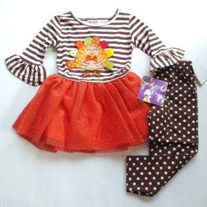 Blueberi Boulevard • 2t girls Thanksgiving outfit